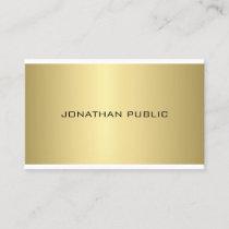 Gold Look Elegant Professional Modern Sleek Plain Business Card