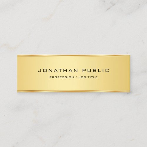 Gold Look Elegant Simple Template Professional Mini Business Card