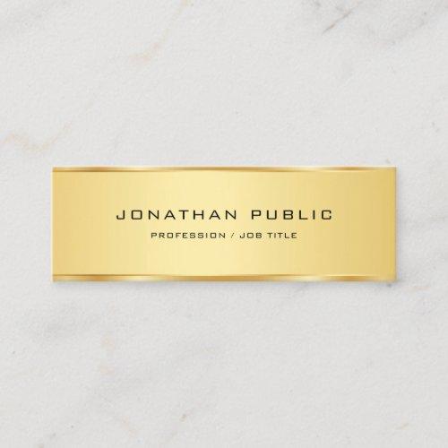 Gold Look Elegant Simple Template Professional Mini Business Card