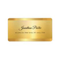 Gold Look Hand Script Name Professional Elegant Label