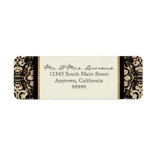 Gold Look, Lace Baroque Art Nouveau Deco 20s Style Label
