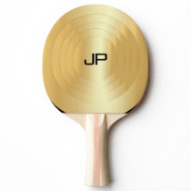 Gold Look Monogram Elegant Template Personalized Ping Pong Paddle