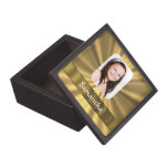 Gold look personalized photo template premium gift boxes