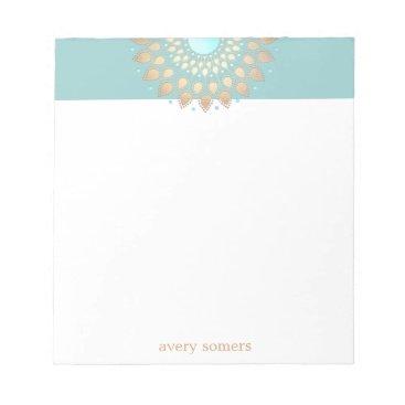 sm_business_cards Gold Lotus Flower Mandala Notepad
