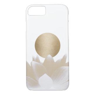 Gold Lotus Flower & Sun Elegant iPhone 7 Case