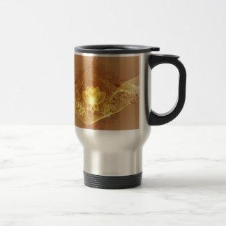 Gold Lotus Flower Travel Mug