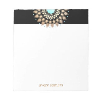 Gold Lotus Mandala Health Therapist Notepad