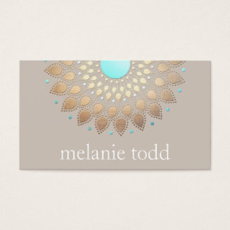 Gold  Lotus Mandala Natural Health Appointment Business Card