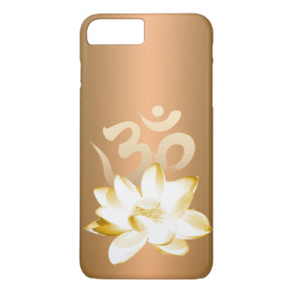 Gold Lotus & Om Symbol Yoga iPhone 7 Plus Case