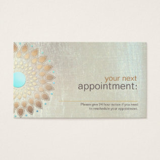 Gold Lotus Salon And Spa Appointment Card at Zazzle