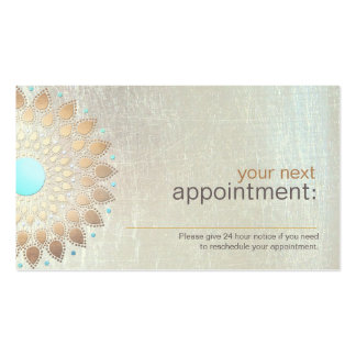 Gold Lotus Salon and Spa Appointment Card Double-Sided Standard Business Cards (Pack Of 100)