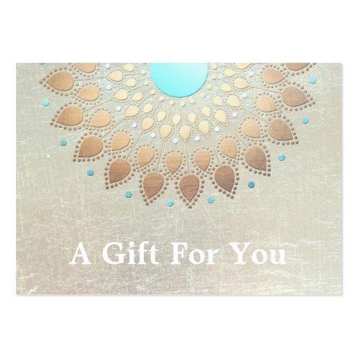Gold Lotus Salon and Spa Gift Card Large Business Cards (pack Of 100)