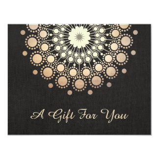 Gold Lotus Salon and Spa Gift Certificate 4.25x5.5 Paper Invitation Card