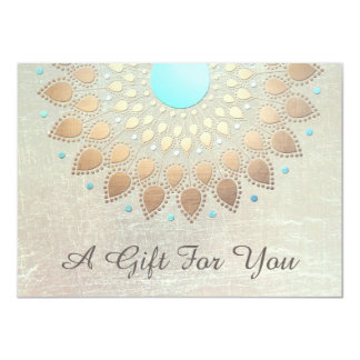 Gold Lotus Salon and Spa Gift Certificate 4.5x6.25 Paper Invitation Card
