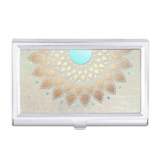 Gold Lotus Yoga and Meditation New age Business Card Case