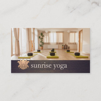 Business cards business card printing zazzle yoga instructor gold lotus yoga and meditation photo business card reheart Choice Image