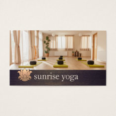 Gold Lotus Yoga And Meditation Photo Business Card at Zazzle