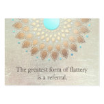 Gold Lotus Yoga and Meditation Referral Card Large Business Card