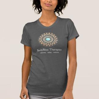 Gold Lotus Yoga and Meditation Teacher Health Spa T-Shirt