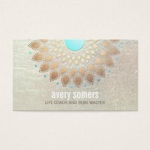 Yoga teacher business cards templates zazzle gold lotus yoga and meditation teacher wellness business card colourmoves