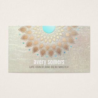 Gold Lotus Yoga And Meditation Teacher Wellness Business Card at Zazzle