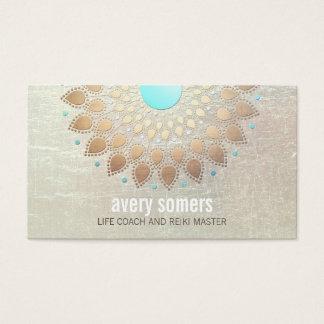 Gold Lotus Yoga and Meditation Teacher Wellness Business Card