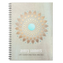 Gold Lotus Yoga and Meditation Teacher Wellness Notebook