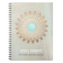 Gold Lotus Yoga and Meditation Teacher Wellness Spiral Notebook