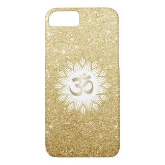 Gold Lotus & Yoga Om Symbol Gold Glitter iPhone 7 Case