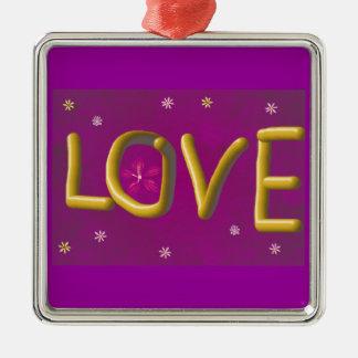 Gold Love 3D Metal Ornament