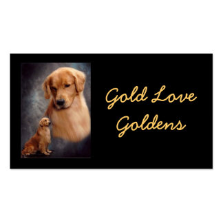 Gold Love Business Card