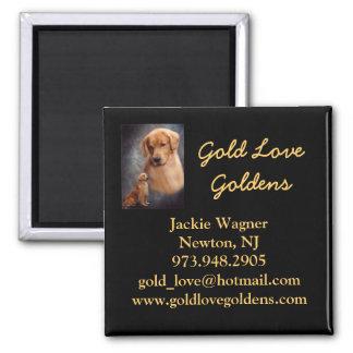 Gold Love Goldens Breeder Magnet