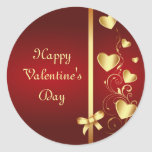 Gold Love Hearts and Flourishes Stickers