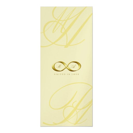 Gold Love Infinity Hand Clasp Logo Wedding Invite