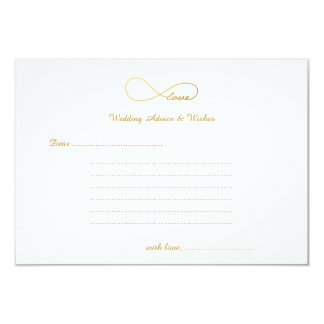 Gold Love Infinity Wedding Wishes & Advice Cards