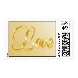 Gold Love stamp