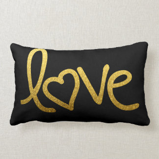 gold love with heart pillow