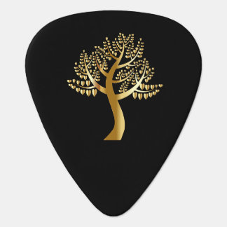 Gold lovers hearts On A Gold Tree Guitar Pick