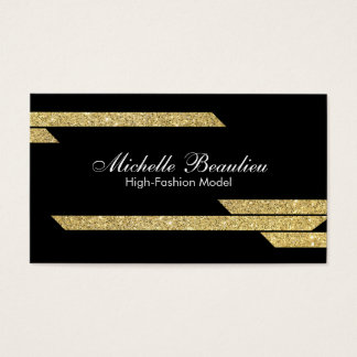 Gold Luster Polygons 2 Business Card