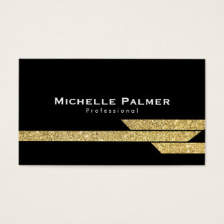 Gold Luster Polygons Business Card