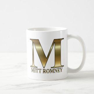 Gold M - Mitt Romney President 2012 Coffee Mug