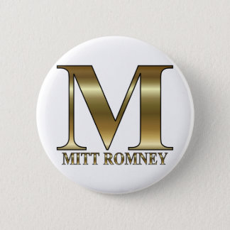 Gold M - Mitt Romney President 2012 Pinback Button