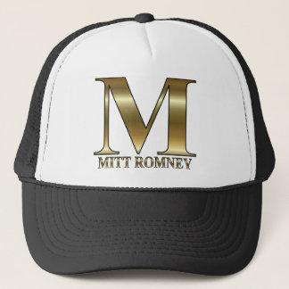 Gold M - Mitt Romney President 2012 Trucker Hat