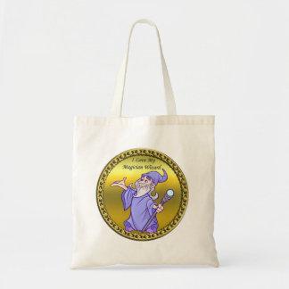 Gold Magical magician sorceress purple wizard Tote Bag