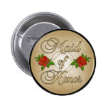 Gold Maid of Honor (MoH) button