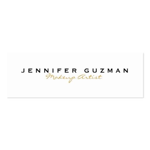Gold Makeup Artist Business Card Template