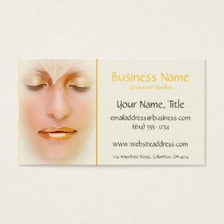 Gold Makeup Woman Natural Business Cards