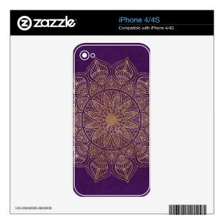 Gold mandala iPhone 4S skins