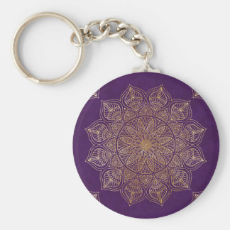 Gold mandala keychain