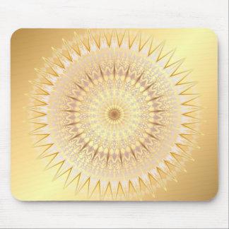 Gold Mandala Medallion Mouse Pad